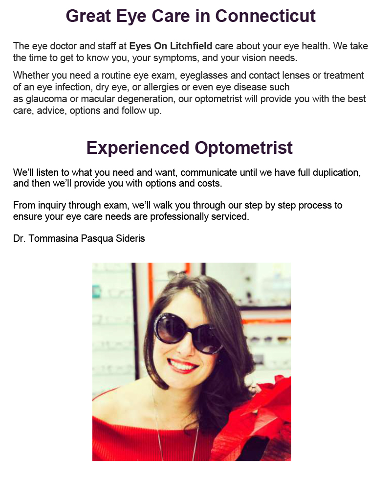 Optometrist in Litchfield, Connecticut